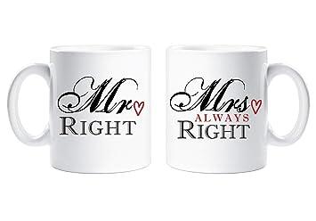 Mr Right Mrs Always Right Couple Mug En Coffret Cadeau