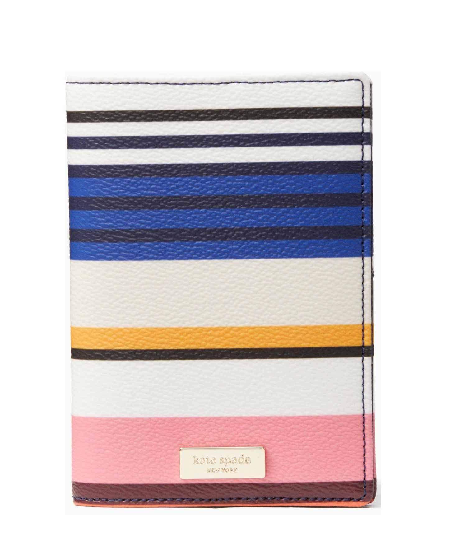 Kate Spade New York Shore Street Berber Stripe Passport Holder - Pink Multi