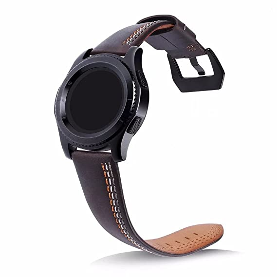 Amazon.com: For Samsungt Gear S3 Leather Bands Classic Quick ...