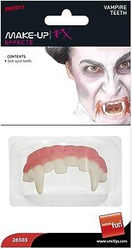 Amakando Dientes Postizo Halloween | Dentadura Vampiro | Caninos Vampiros | Colmillos Drácula: Amazon.es: Juguetes y juegos