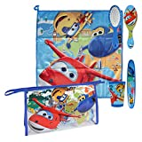 Super Wings Wash Bag;Includes wash bag, flannel, beaker, brush and toothbrush holder;Ideal overnight and travel accessory;Features a fun and colourful character design