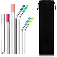 New Tide Reusable Straws,Silver,NT-SSS8F