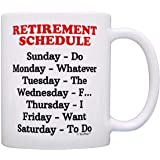 Retirement Gag Gift Retirement Schedule Calendar Office Humor Coworker Gift Coffee Mug Tea Cup White by ThisWear
