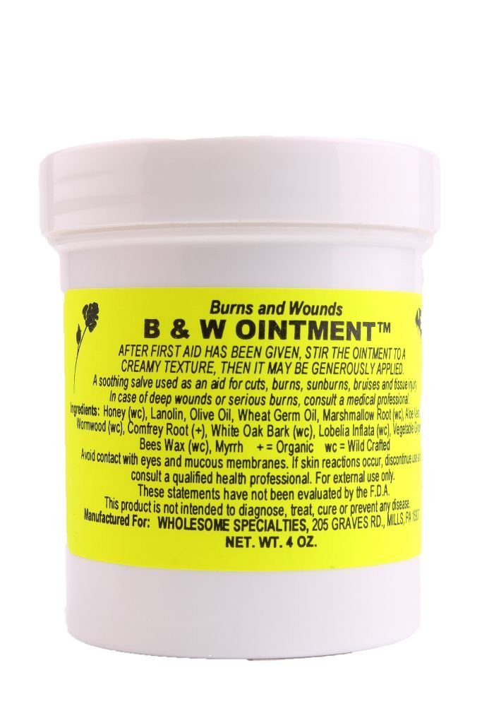 B & W (Burn and Wound) Ointment, 16 Oz. Container