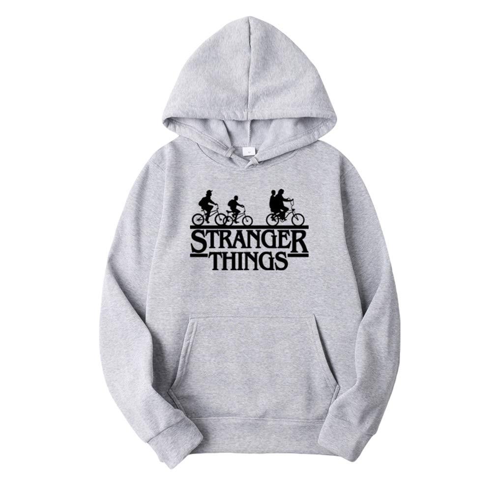 Yuanu Homme Femme Stranger Thing Hoodie Sweat A Capuche Sport Casual Manches Longues Hip Hop Baggy Doubl/é De Velours Pull /à Capuche Ecriture Imprim/é Sweat Shirt