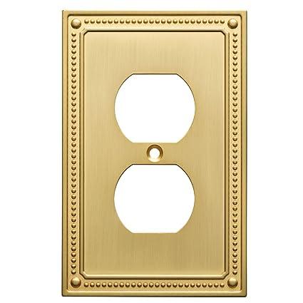 Franklin Brass W35059 Bb C Classic Beaded Single Duplex Wall Plate