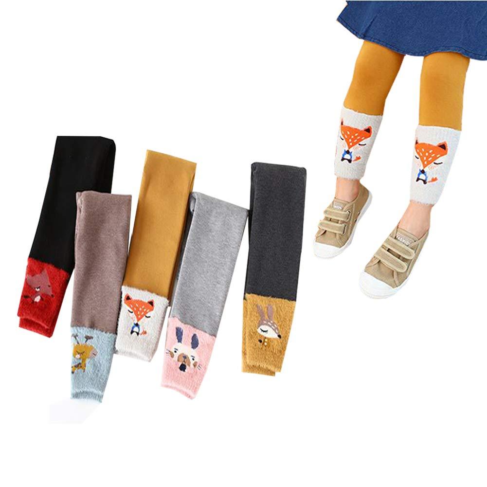 Toddler Baby Girl Knit Tights Cute Animal Patterns Print Kids Stockings Leggings Pants 5 Pack (M(3-5T)) by Sunlunckystar