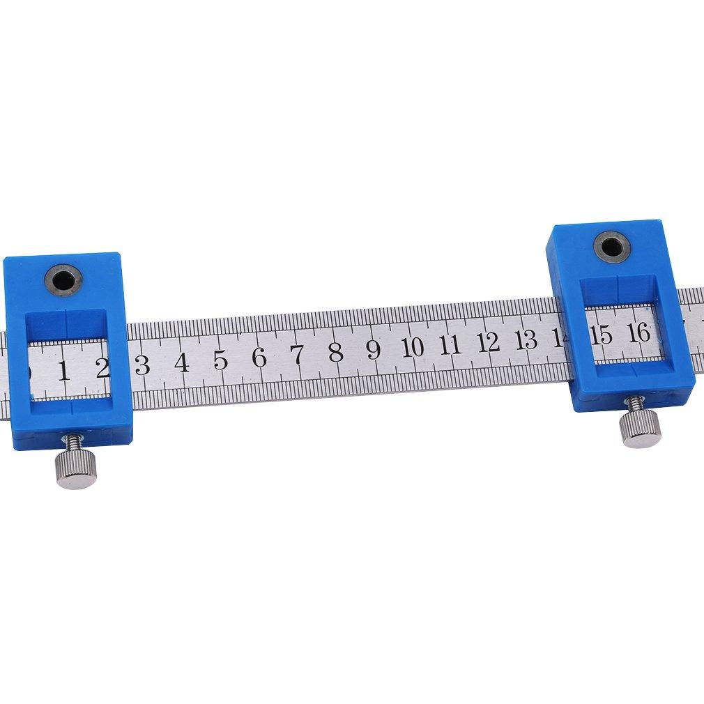 Jixing Pochette amovible pour guide de per/çage Outil de perforation Jig Armoire mat/ériel Bois per/çage chevilles Long
