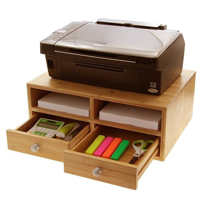 1 opinioni per Bamboo stampante supporto, supporto, monitor da scrivania con cassetti