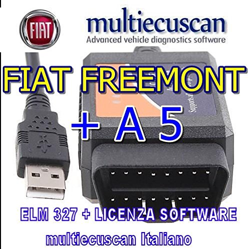 ELM327/ licencia Software Multiecuscan Service OBD2/Fiat Freemont A5