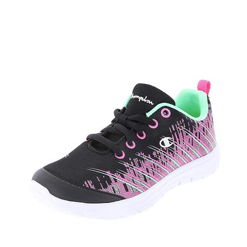 0f30175e9a8889 Champion Black Pink Mint Girls  Performance Gusto 3D Print Runner 13.5  Regular