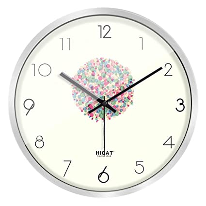 SESO UK- Modern Creativo Reloj de Pared de Dibujos Animados de Cuarzo Mudo Personalidad niños