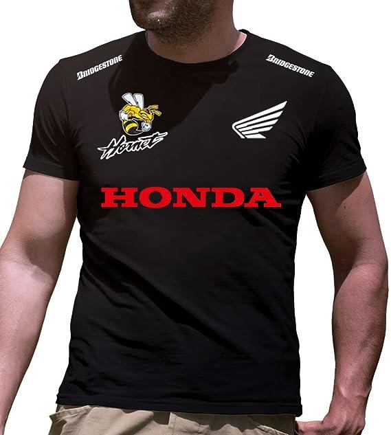 Honda Logo Camiseta Hombre Coche Clipart Car Auto tee Top Negro Blanco Mangas Cortas Presente
