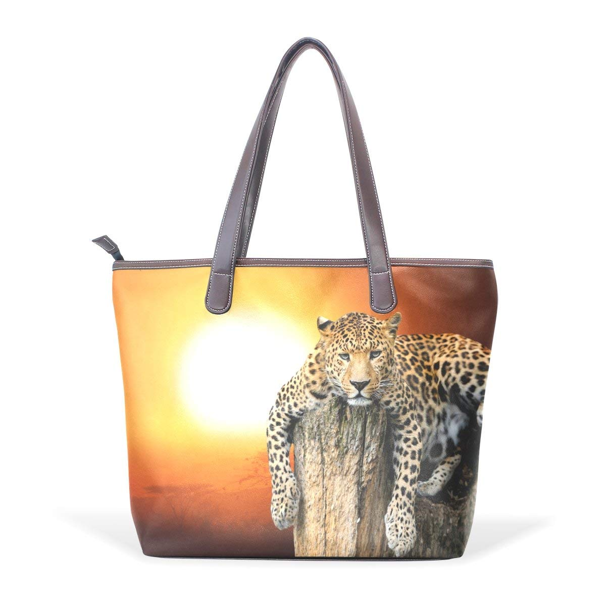 Leopard Pattern Print Womens Fashion Large Tote Ladies Handbag Shoulder Bag
