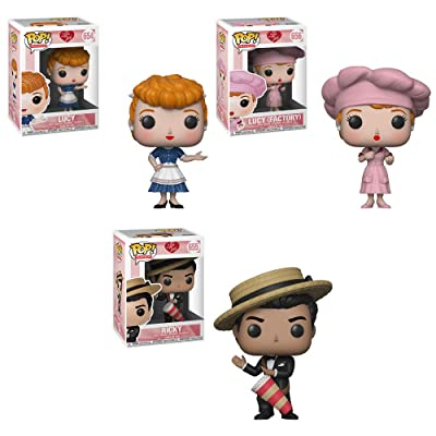 Pop Television I Love Lucy - Lucy, Ricky, Factory Lucy Vinyl Figures Set: Toys & Games
