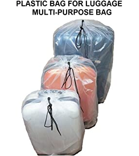 Dust Cover Big Plastic Bags Multi-Purpost for Storage Drawstring Bag Set For Keeping Luggage