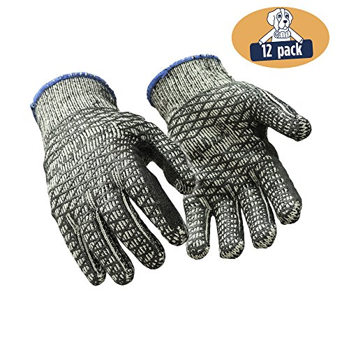 - RefrigiWear Heavyweight Knit Double Sided PVC Honeycomb Glacier Grip Work Gloves, Pack of 12 Pairs (Black, X-Large)