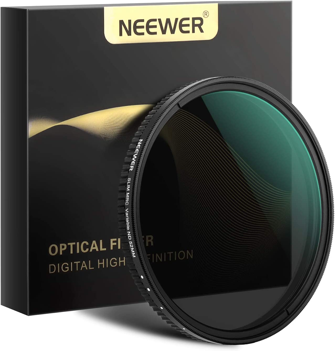 Amazon Com Neewer 52mm Variable Fader Nd Filter Neutral Density Variable Filter Nd2 To Nd32 1 5 Stop For Camera Lens No Black Cross Multilayer Coating Ultra Thin Frame Design Camera Photo
