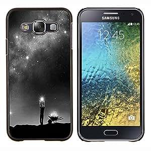 YiPhone /// Prima de resorte delgada de la cubierta del caso de Shell Armor - Dios Vía Láctea Estrellas significado profundo - Samsung Galaxy E5 E500