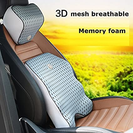 1 SET Mesh Back Cushion For Car Seat Desk Office Chair UPGRADE VERSION WITH STRAP