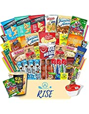 Rise The Snack Box (50+ Count) Variety Care Package Snacks for Adults & Kids, Snack Box Full of Delicious Snacks, Chips, Bars, Cookies, Candies and Ramen - Movie Nights and Gifts.