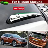 New Design 4pcs ABS Chrome Car Back Rear Window Wiper Rain Nozzle Cover Trim Molding Trim Molding Strip Decorative Emblems Custom Fit For Nissan Murano 2015 2016 2017 2018 2019