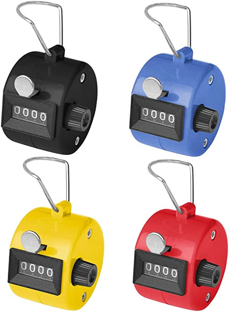 GOGO 4 Digit Electronic Digital Tally Counter Hand Clicker Mechanical Assorted
