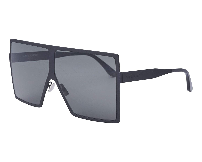 e2fad90a43 Amazon.com  Saint Laurent BETTY S SL 182 BLACK GREY 63 6 140 unisex  Sunglasses  Clothing