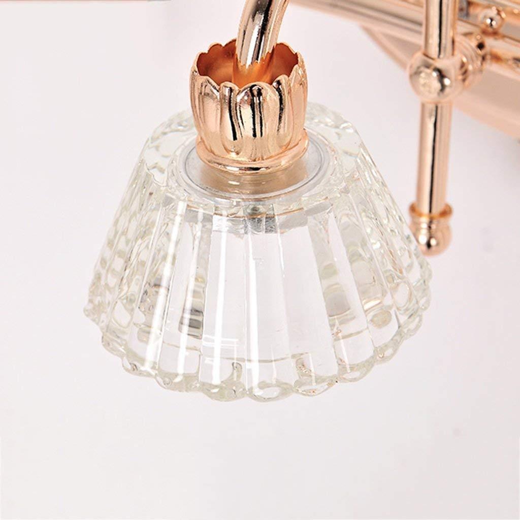Oudan Badezimmer Spiegel Licht Europäischen Stil LED Kristall Kristall Kristall Spiegel Scheinwerfer Badezimmer Schrank Licht (Größe  3 Kopf-51cm) (Farbe   2 Head -40cm, Größe   -) 7e67b3