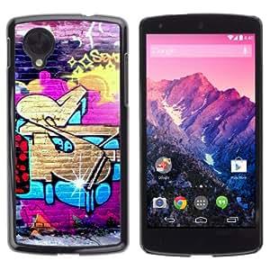 iKiki-Tech Estuche rígido para LG Google Nexus 5 - Cool Street Graffiti Art