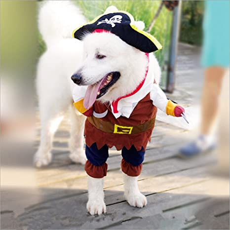 Ropa de perro pirata marinero capitán dibujos animados mascotas ...