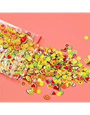2020 New 1000pcs/pack Nail Art 3D Fruit Slices Polymer Clay DIY Slice Decoration Nail Sticker Mixed Stype Soft Pottery Fruit Slices Filler Nails Art Tips Crystal Slime Animal Cake (A)