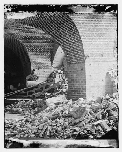 Timothy Osullivan Civil War - Photo: Interior view,breach,Fort Pulaski,Georgia,GA,Timothy O'Sullivan,Civil War,1862
