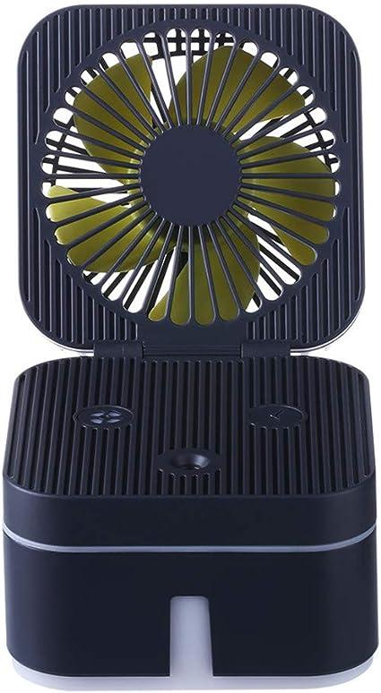 JiaMeng Humidificador de Ventilador cúbico con lámpara de Ambiente ...
