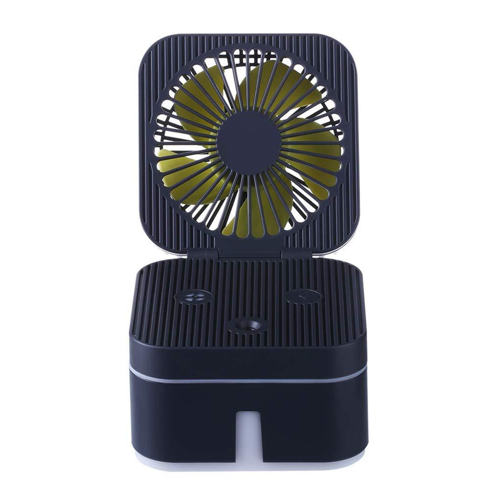 1KTon Fan Humidifier With Atmosphere Lamp Office Portable Air Purification Humidifier Fan Mini Fan Portable Fan for Kids Girls Woman Home Office Outdoor Travel