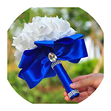 dc964271fc Amazon.com: Lady Night Beautiful Artificial Royal Blue Wedding ...