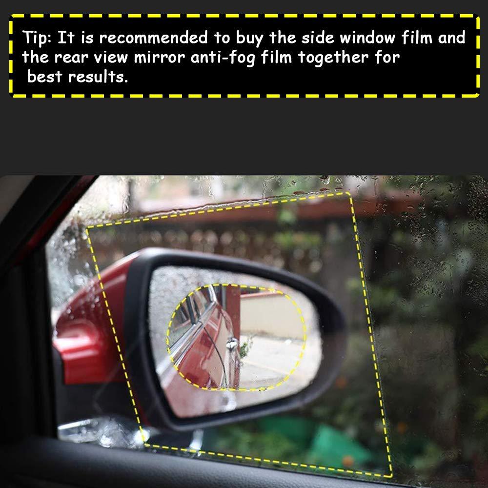 Rainproof Anti Fog Film Car Rear View Mirror Waterproof Film Protective Film Anti Glare Rain-Proof Anti Water Mist HD Nano Film Anti-Glare Anti-Scratch