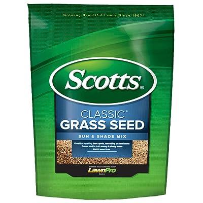 Scotts 17183 Classic Grass Seed Sun & Shade Mix, 3 Lbs : Garden & Outdoor