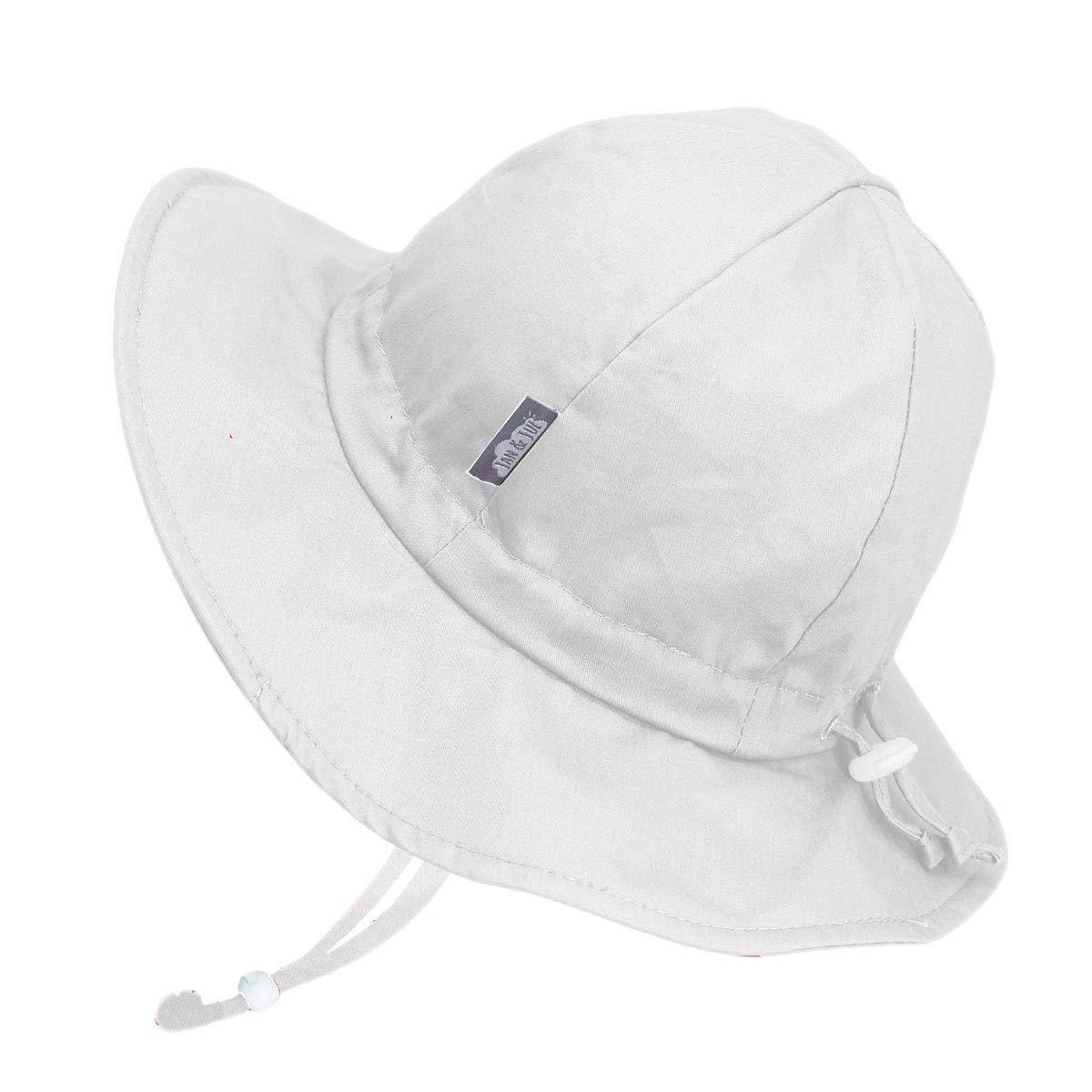 Kids Adjustable Strap for Baby Jan /& Jul Girls Wide Brim UV Protection Cotton Sun-Hat Toddler
