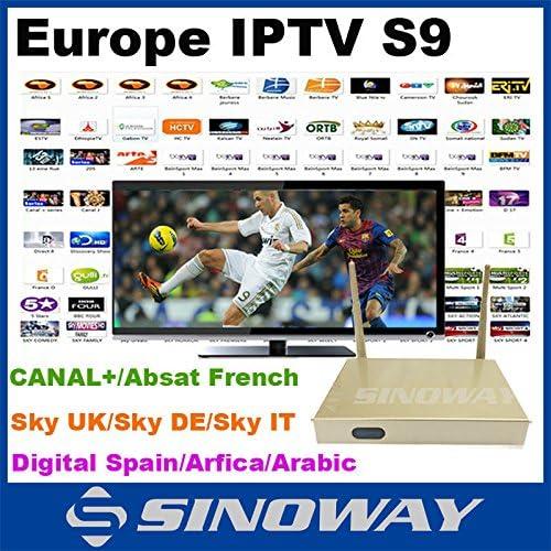 MU QHDTV Europea Android IPTV cuadro de tv S9 con Francés Árabe ...