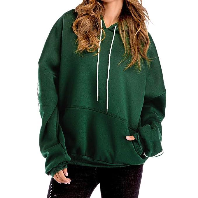 BeautyTop Frauen Tunnelzug Langarm Hoodie Sweatshirt