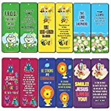 Bookmarks for Kids Children (60 Pack)- Animal Religious NIV Bible Cards - Lion Bee Frog Owl Sheep - John 3:16 Best Christian Gifts Wall Room Decor Homeschooling Scrapbooking Journal Art Craft Activity