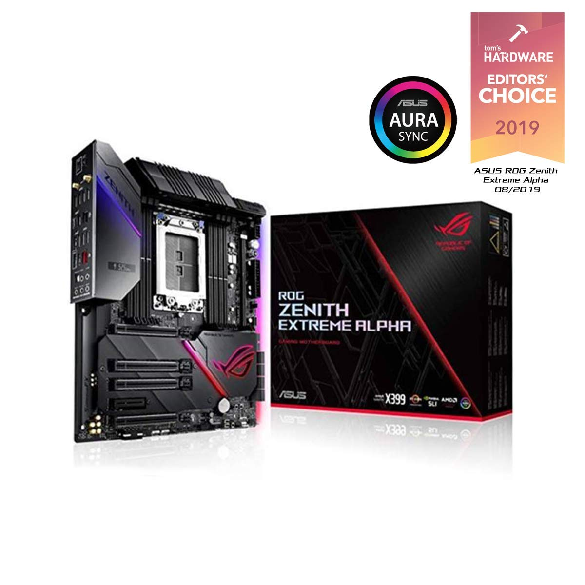Asus ROG Zenith Extreme Alpha X399 HEDT Gaming Motherboard AMD Threadripper 2 (TR4) EATX DDR4 M.2 10G LAN USB 3.1 Gen2