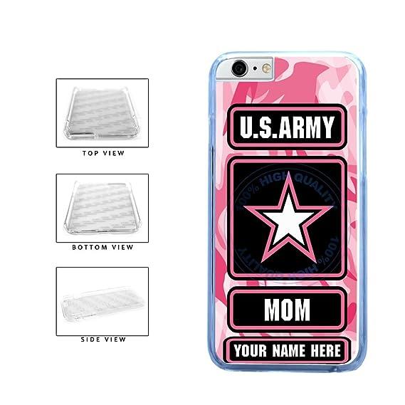 amazon com bleureign(tm) personalized custom name army mom clear