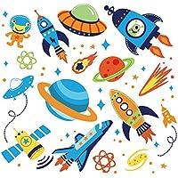 Super Space Explorer Decorative Peel & Stick Wall Art...