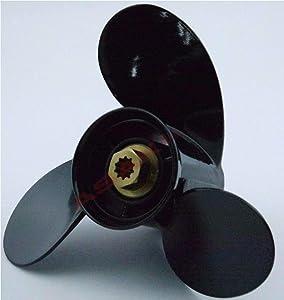 Asaki Al. Propeller 10-3/8x13 for Mercury 9.9-25 HP 48-19640A40, New