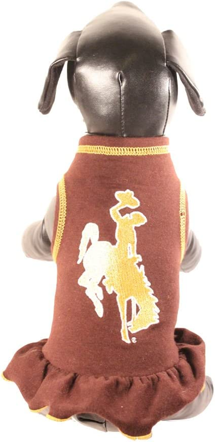 NCAA Wyoming Cowboys Cheerleader Dog Dress X-Large