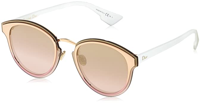 0f02d275ac Image Unavailable. Image not available for. Color  Christian Dior Nightfall  24S Gold White Nightfall Round Sunglasses ...
