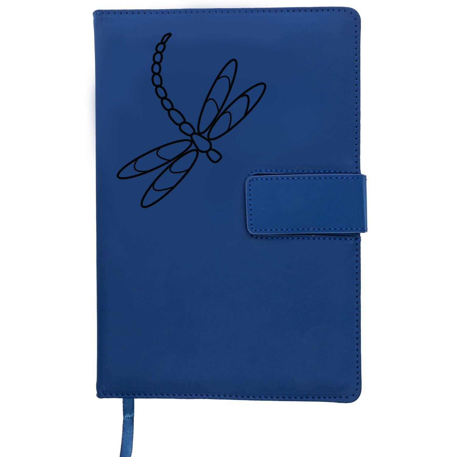 The Dragonfly Refillable Writing Journal | Faux Leather Cover, Magnetic Clasp + Pen Loop | Blank Notebook | 200 Lined Pages, 5 x 8 Inches for Travel, Personal, Poetry | Blue | The Amazing Office by The Amazing Office (Image #4)