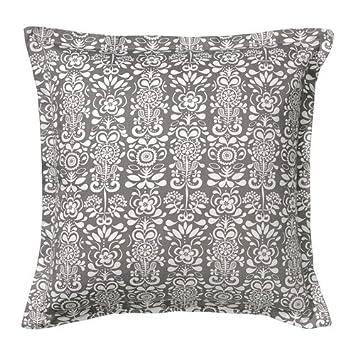 IKEA AKERKULLA - Funda de cojín, gris / blanco - 65x65 cm ...